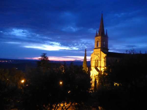 Bonnieux at sunset
