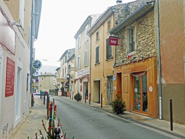The main street of Bonnieux in December