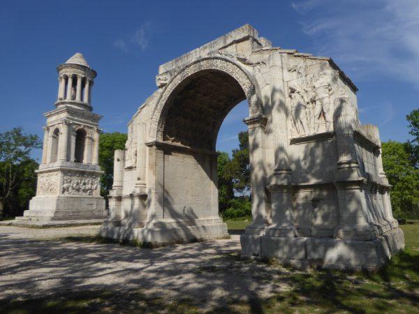 Roman monuments near St. Remy de Provence
